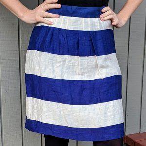 Ann Taylor Loft Women's Linen Blend Striped Skirt